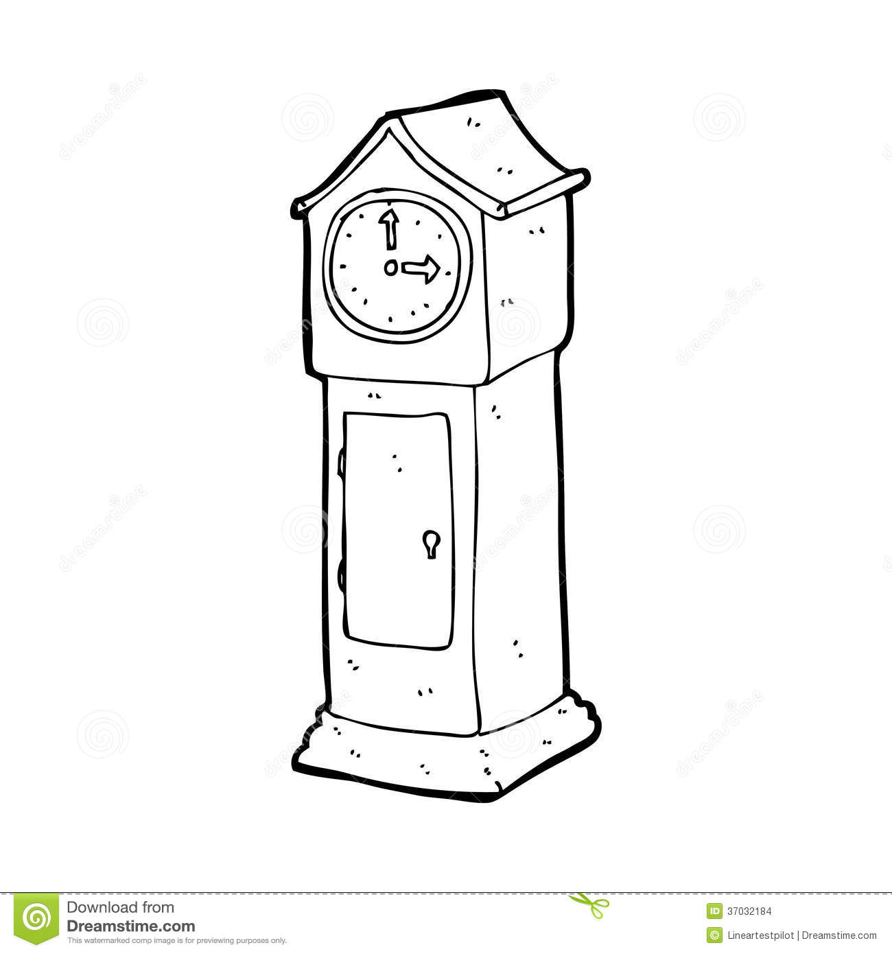 Cartoon grandfather clock stock illustration. Illustration ...