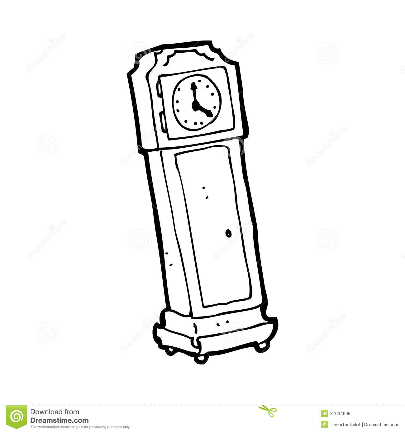 Cartoon Grandfather Clock Royalty Free Stock Photo - Image ...