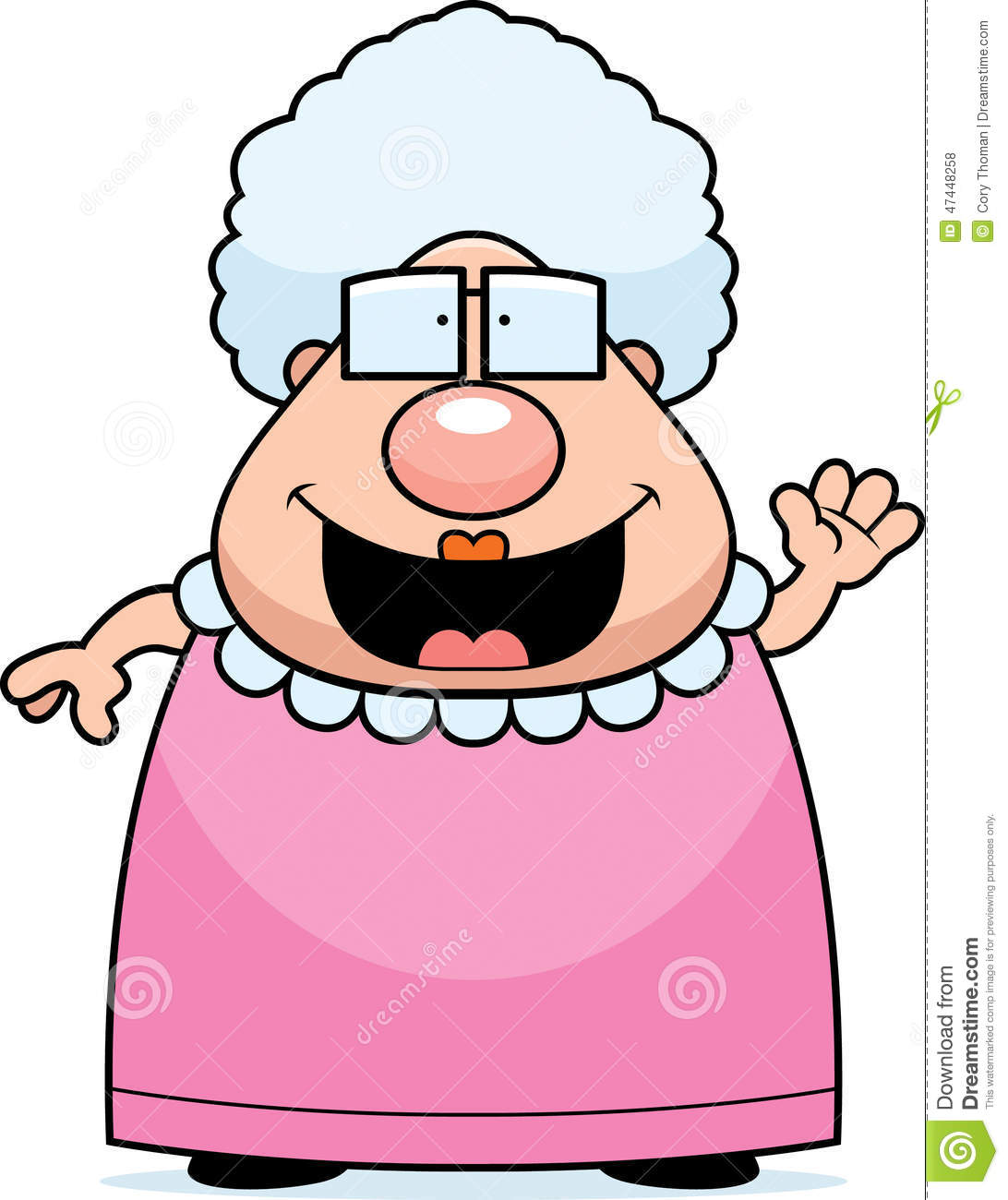 Cartoon Grandma Waving Stock Vector - Image: 47448258