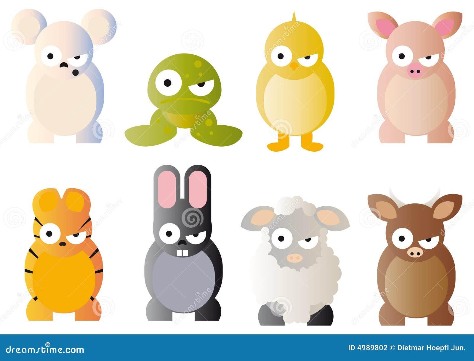 Cartoon graphics of animals