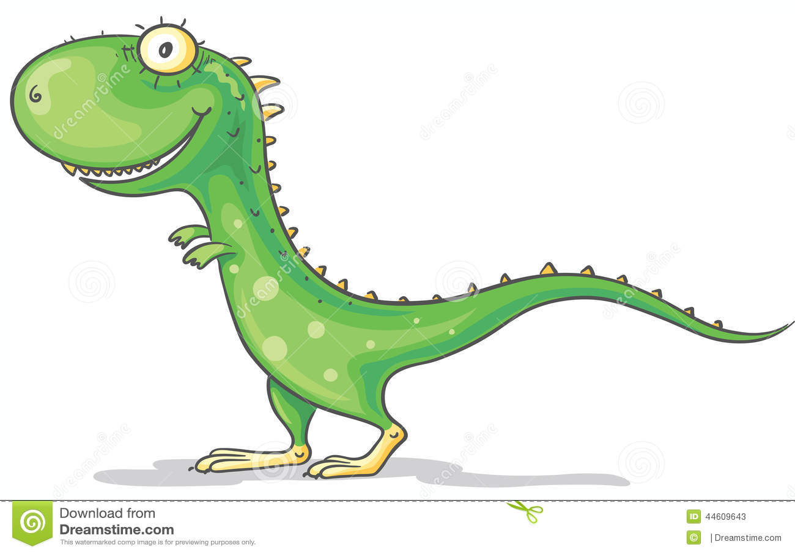 Cartoon Green Dinosaur Stock Vector - Image: 44609643