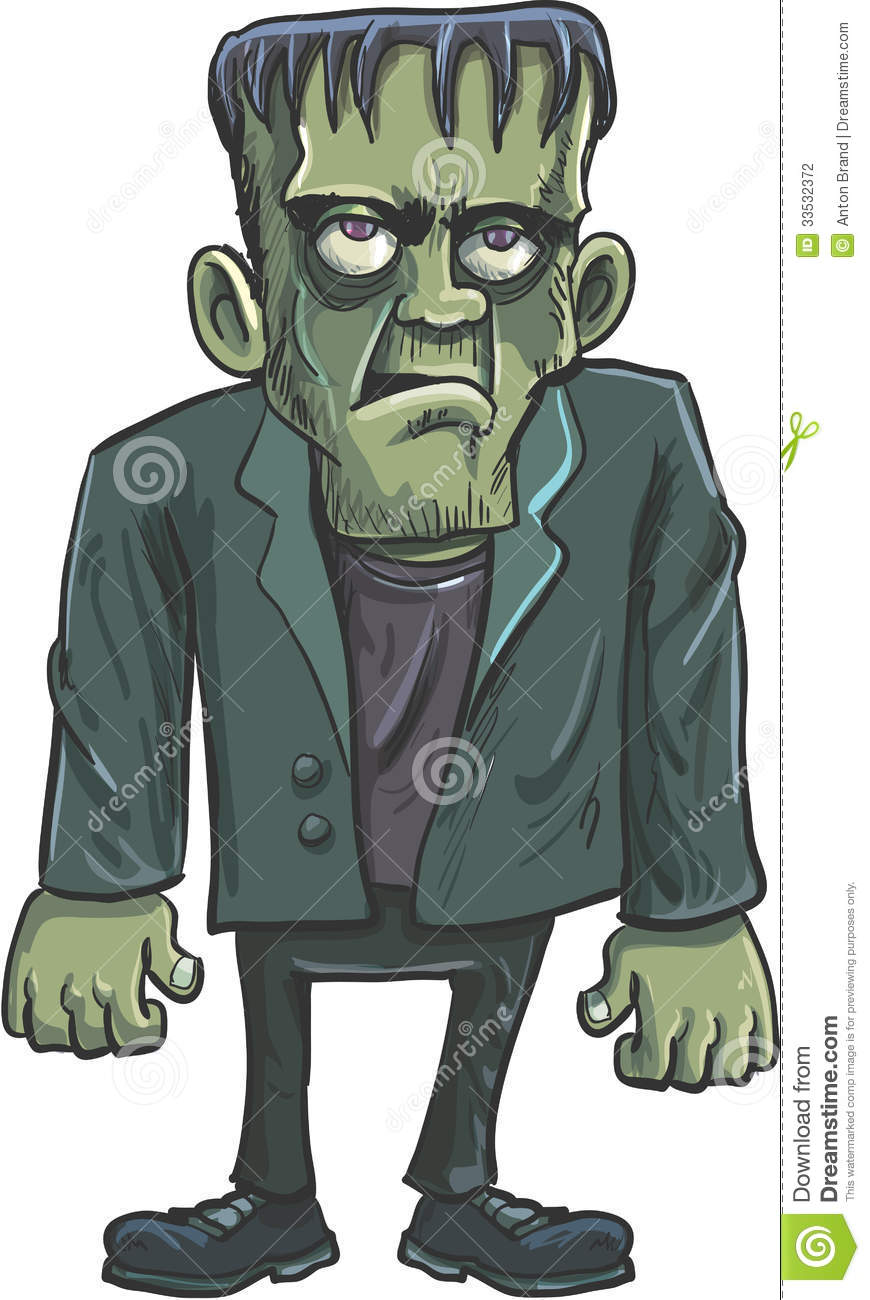 Cartoon green Frankenstein stock vector. Image of monster ...