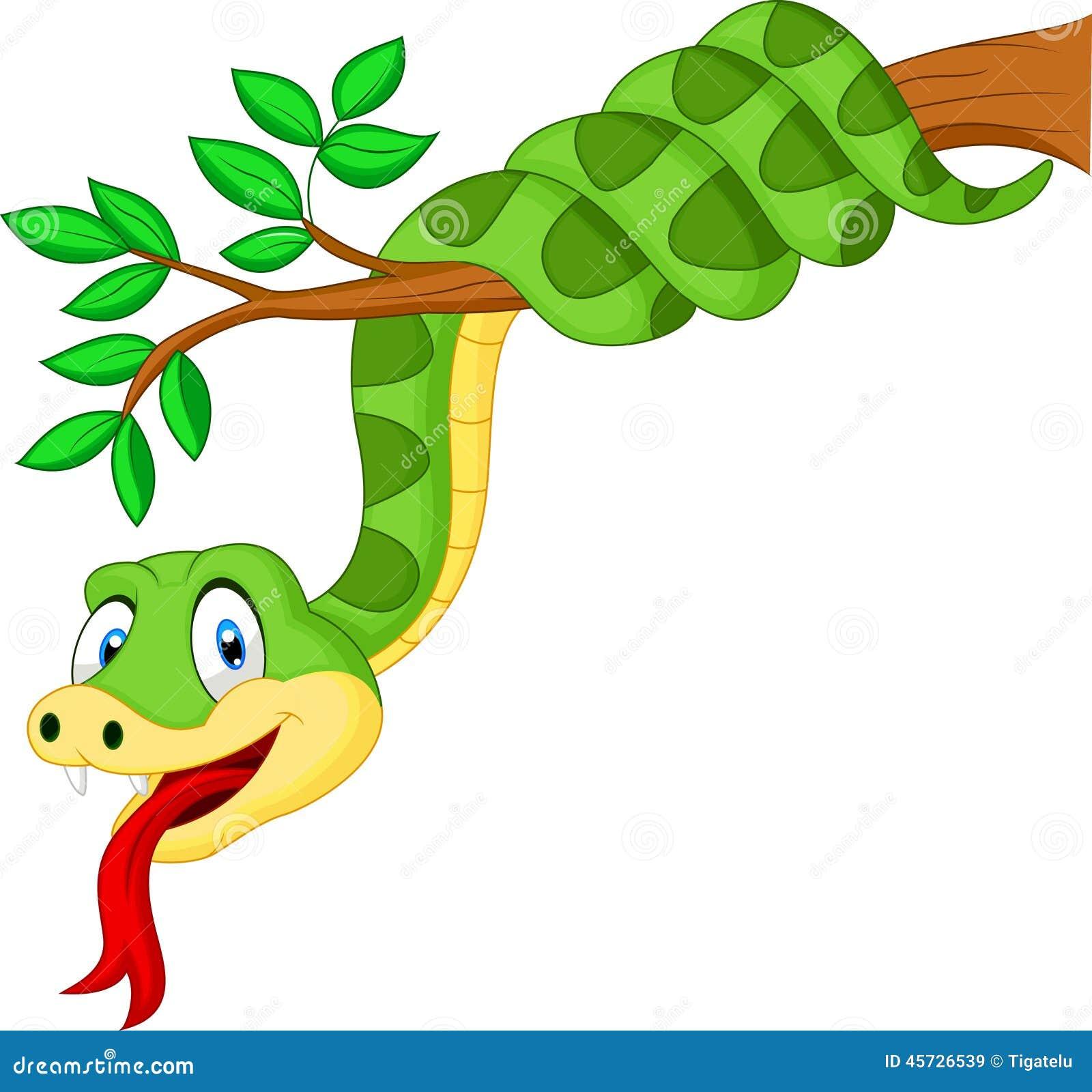 Green snake cartoon royalty free stock image image 19462406 - Cartoon Green Snake On Branch Royalty Free Stock Images