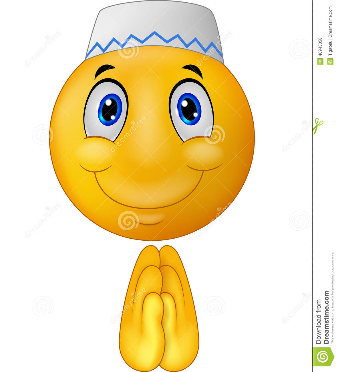 Cartoon Greeting Muslim Emoticon Stock Vector - Image: 46948058