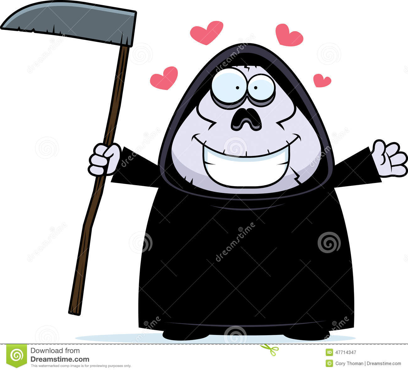 Image result for a cartoon picture of the grim reaper