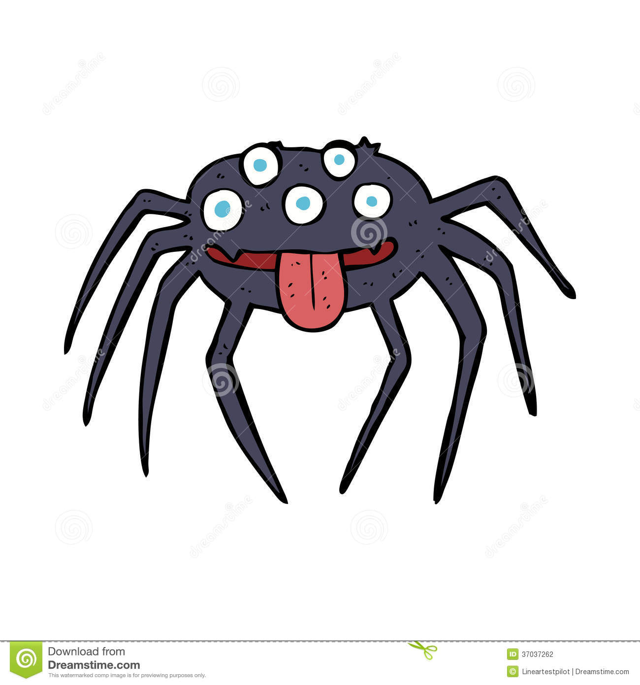 Cartoon Gross Halloween Spider Stock Photography - Image ...