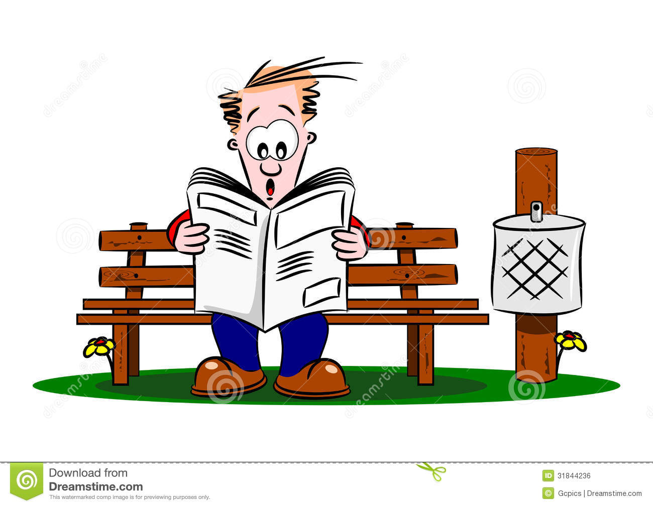 ... Guy Reading A Newspaper Royalty Free Stock Image - Image: 31844236