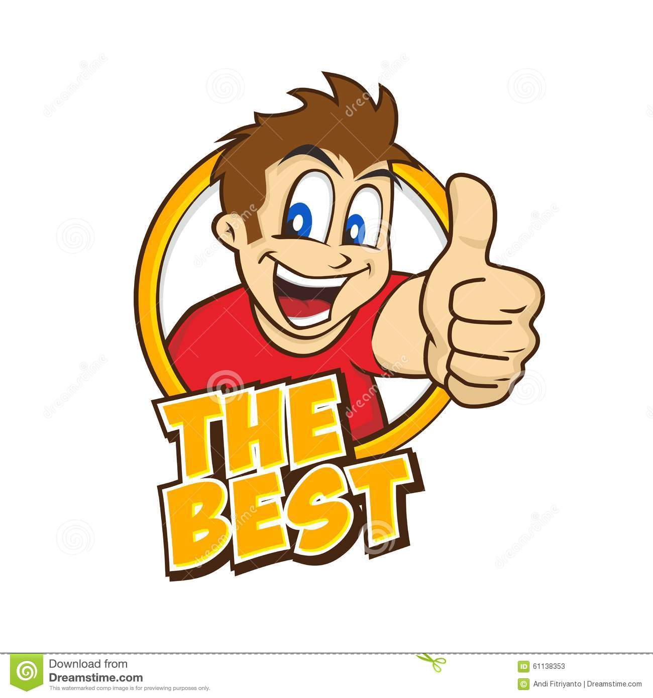 Cartoon Guy Thumbs Up Stock Vector - Image: 61138353
