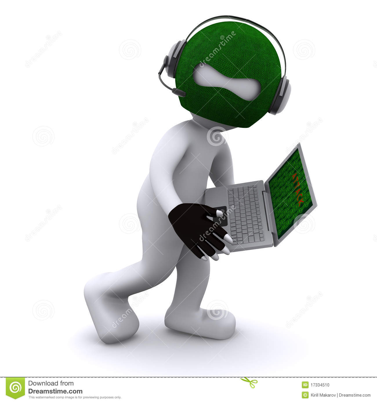 Cartoon hacker with laptop stock photo image 17334510 hackers clip art