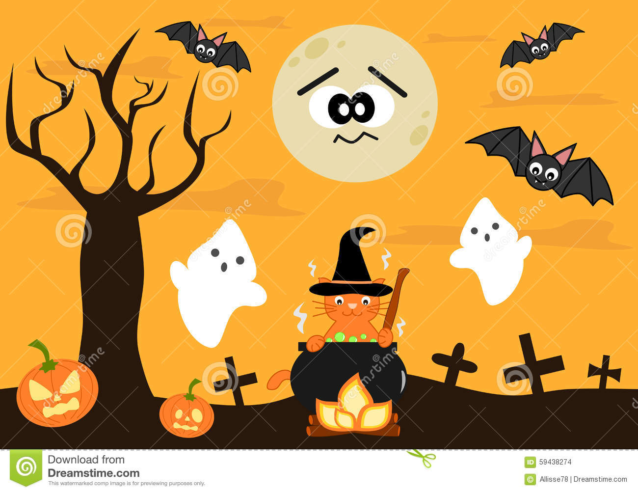 cartoon halloween background for kids - Halloween Images For Kids