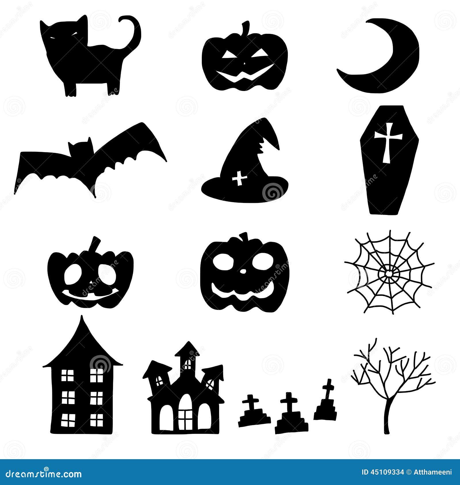 Cartoon Halloween Doodle Element Stock Vector  Illustration Of