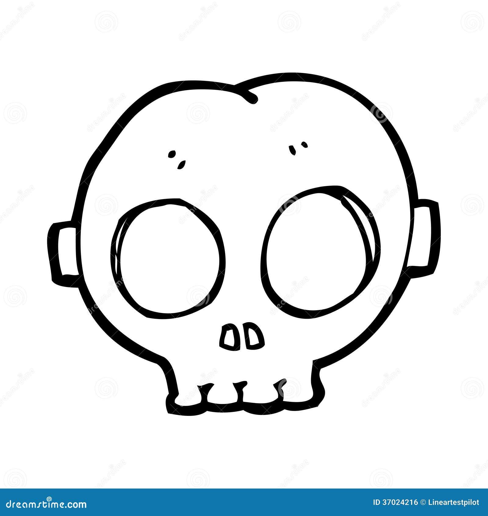 Cartoon Halloween Skull Mask Royalty Free Stock Image - Image ...