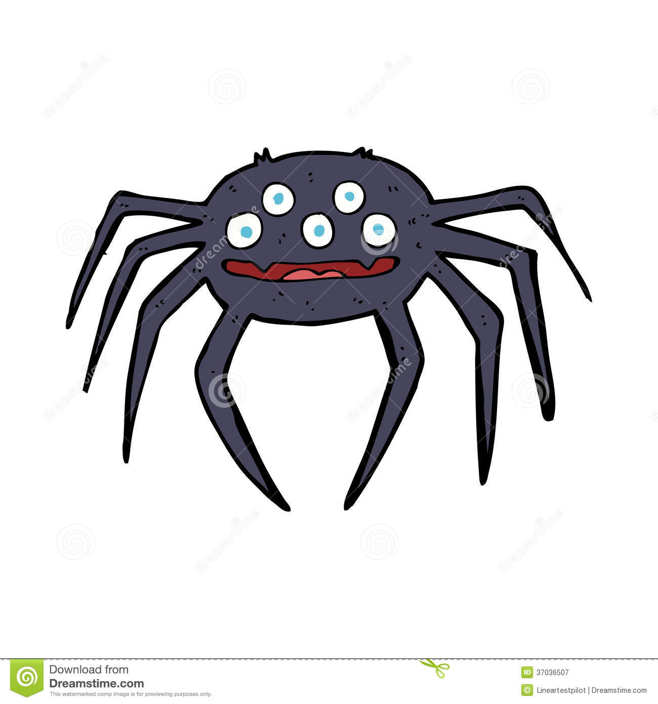 Cartoon Halloween Spider Royalty Free Stock Photography ...