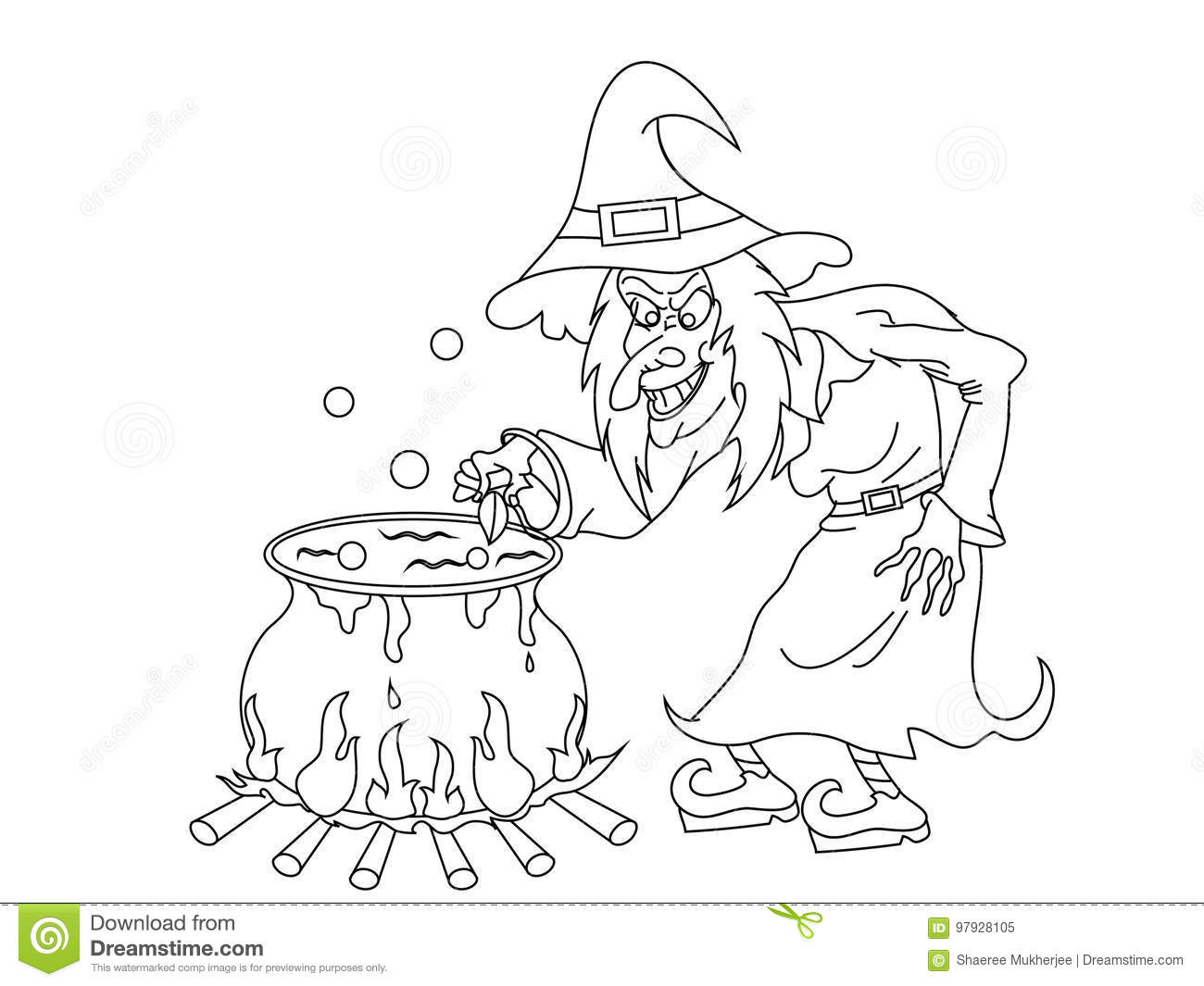 Halloween Witch Coloring Page 02 | Free Halloween Witch Coloring Page | 1065x1300