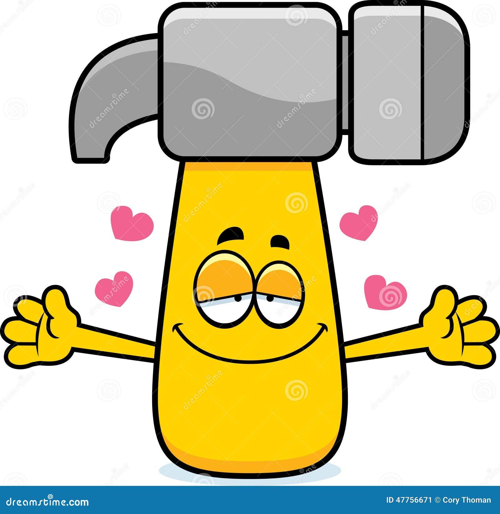 Vector Illustration Hammer: Cartoon Hammer Hug Stock Vector. Illustration Of Hugging