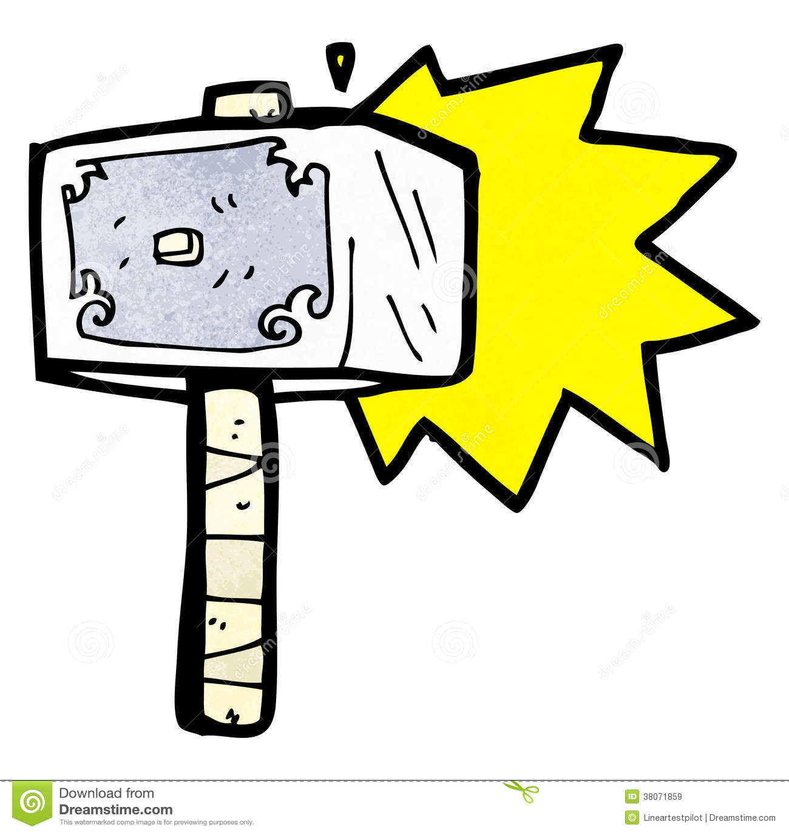 Cartoon Hammer Of Thor Stock Illustration Illustration Of Artwork