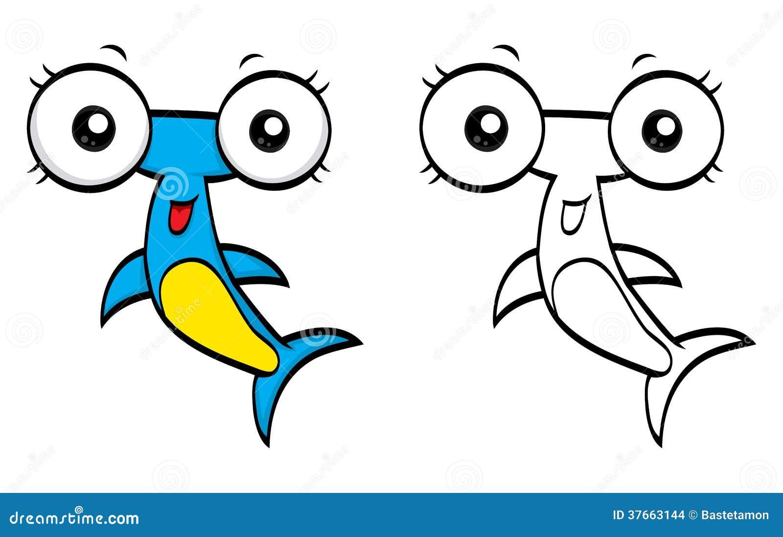 Cartoon Hammerhead Stock Images - Image: 37663144