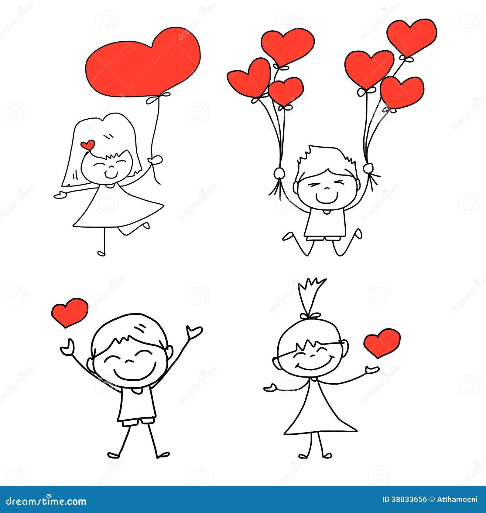 cartoon character Love Wallpaper : cartoon Hand-drawn Happy Love Royalty Free Stock Image - Image: 38033656