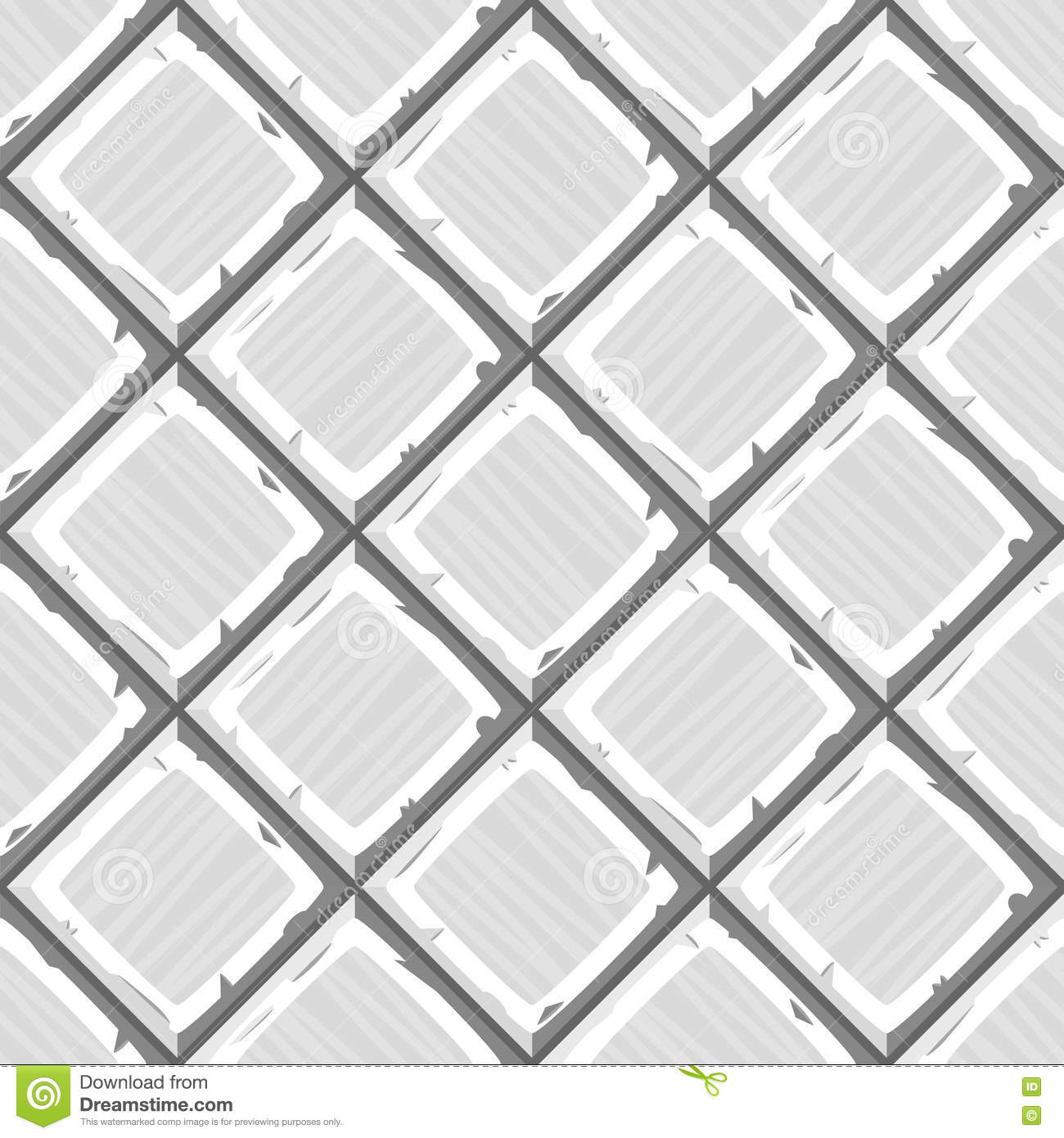 Cartoon Hand Drown White Old Diagonal Seamless Tiles