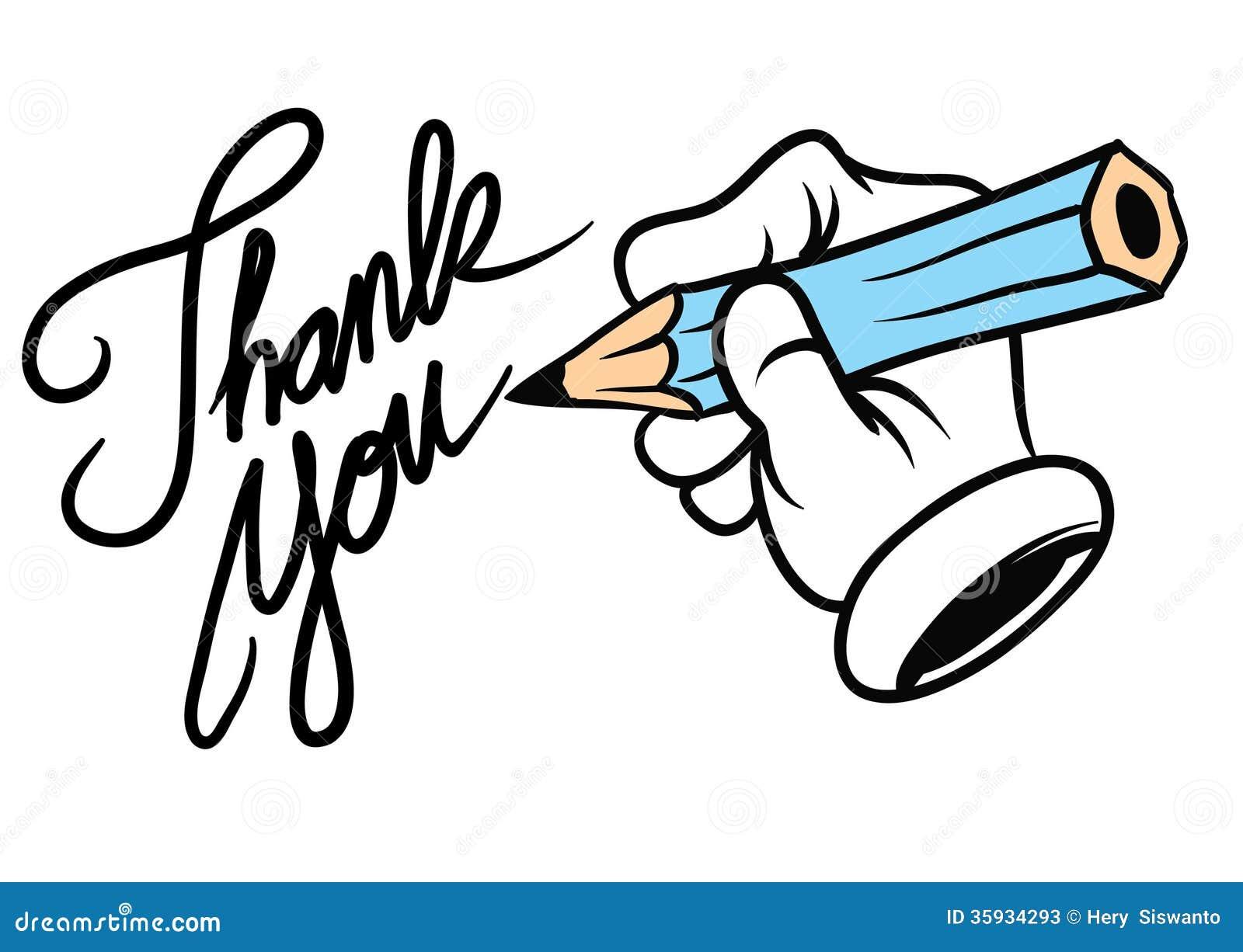 Cartoon Hand Writing Thank You Stock Photos - Image: 35934293