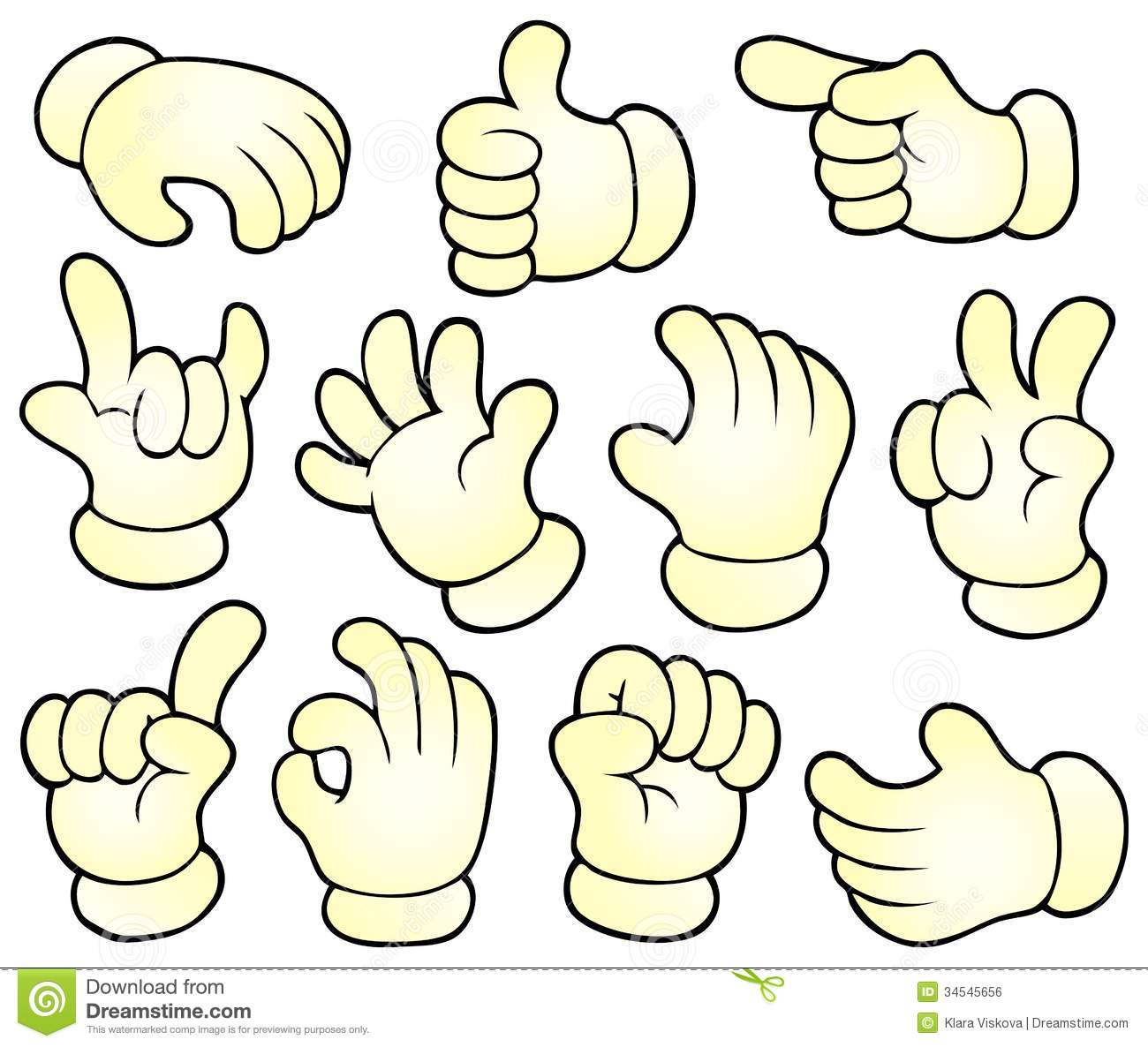 Cartoon Hands Theme Collection 1 Royalty Free Stock Image Image 34545656