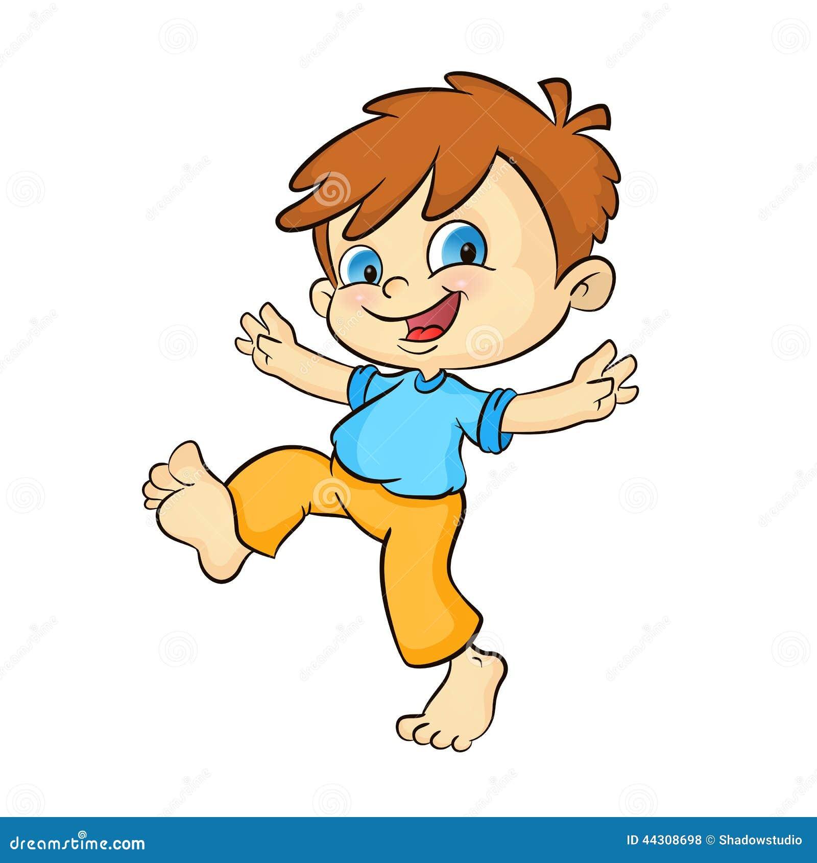 Cartoon Happy Boy Stock Vector Illustration Of Pointing