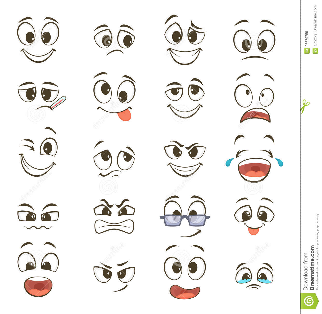 The question facial expressions caricatures suggest you