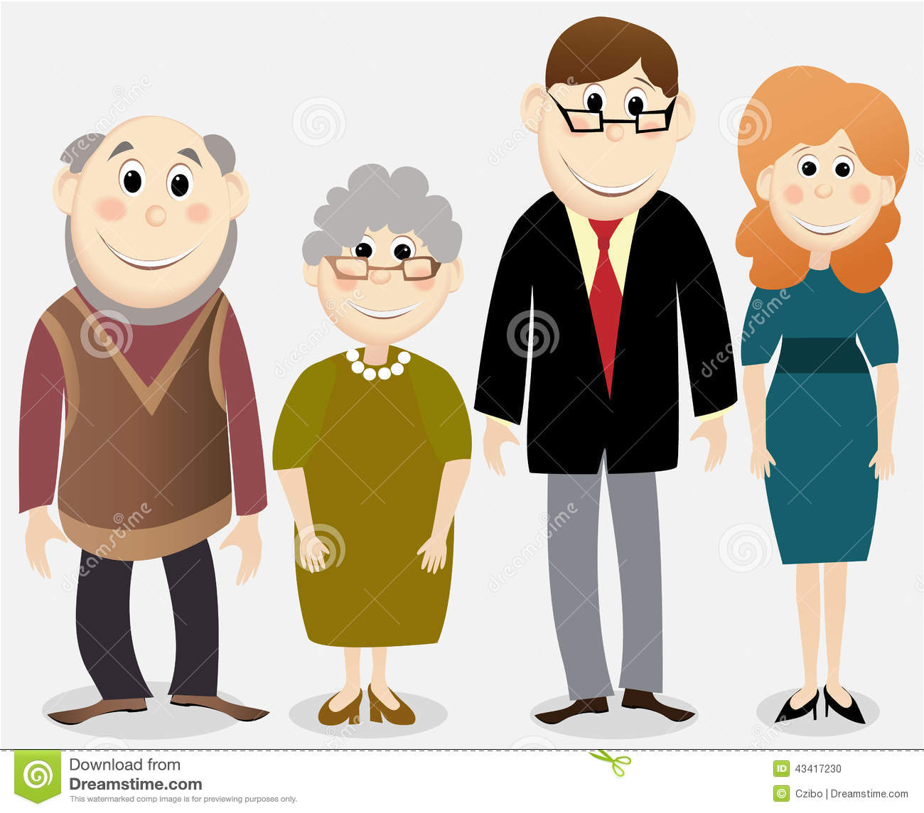 cartoon happy family stock vector illustration of background 43417230 grandmother clipart pictures grandmother clipart images