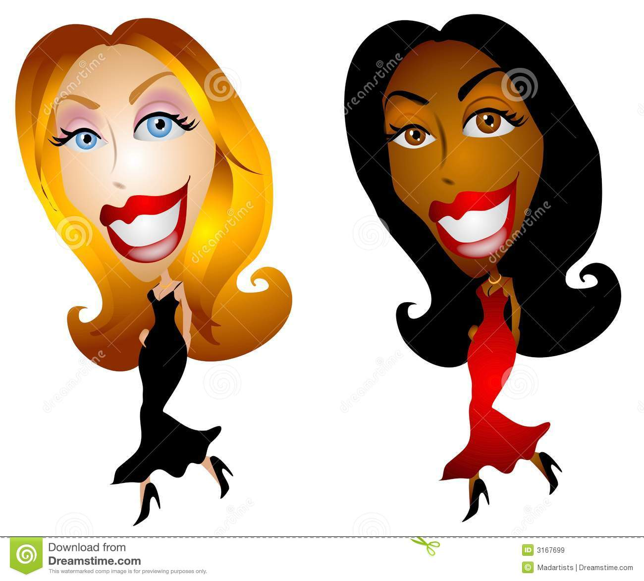 women fashion cartoon characters stock vector image 49682770