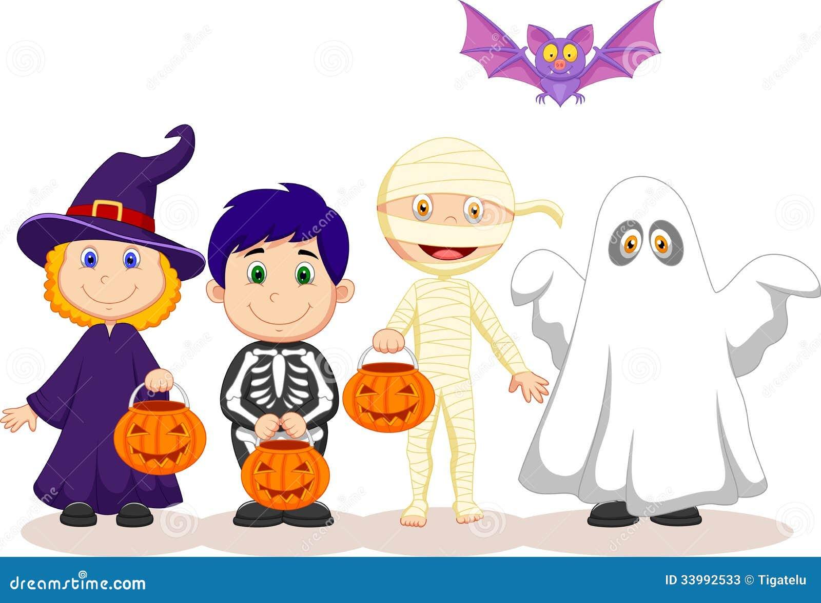 cartoon children halloween happy - Happy Halloween Cartoon Pics