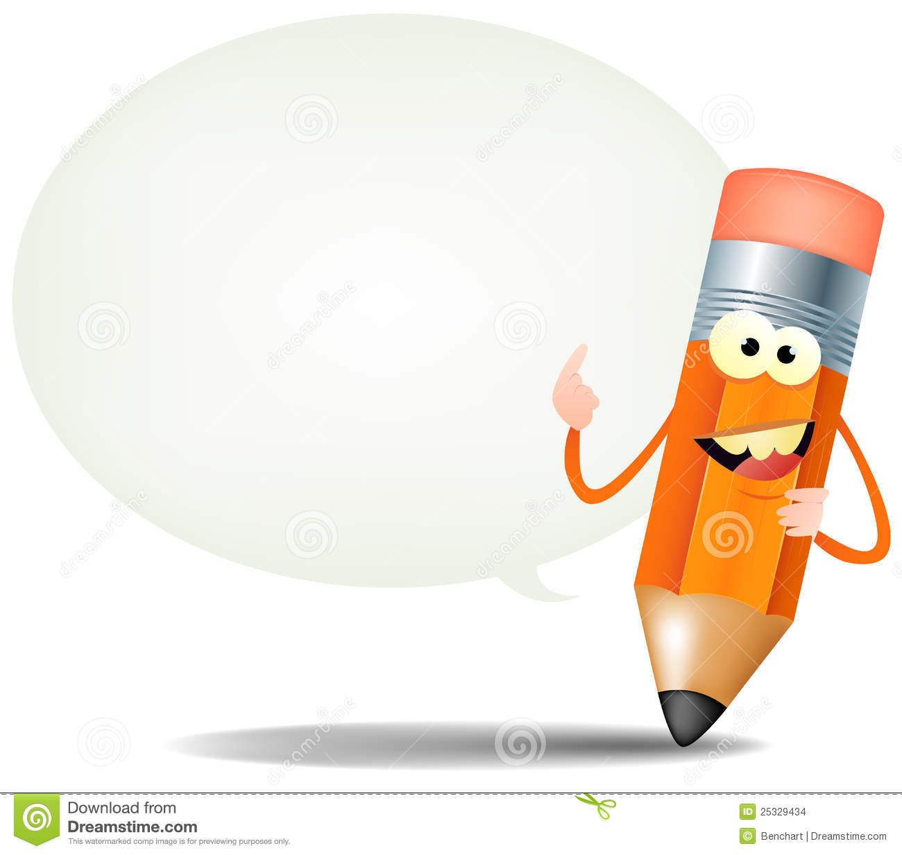 Cartoon Happy Pencil Character Stock Images - Image: 25329434