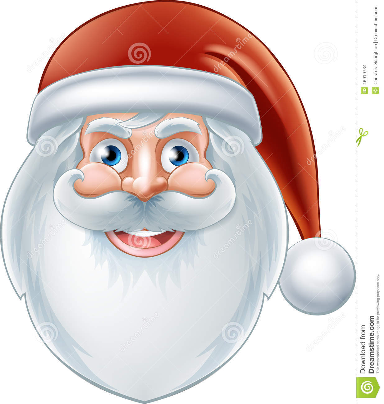 Cartoon Happy Santa Claus stock vector. Illustration of ...