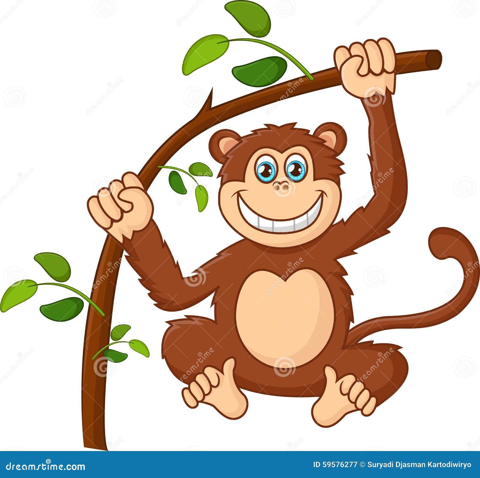 Images for simple cartoon monkey hanging - Cartoon Happy Smile Monkey Hanging