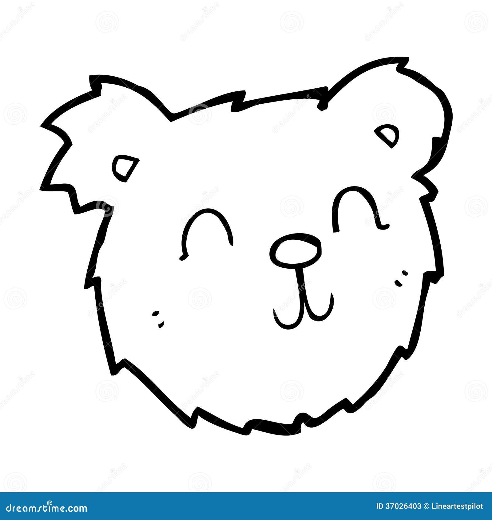 Bear Face Line Drawing : Cartoon happy teddy bear face stock illustration image