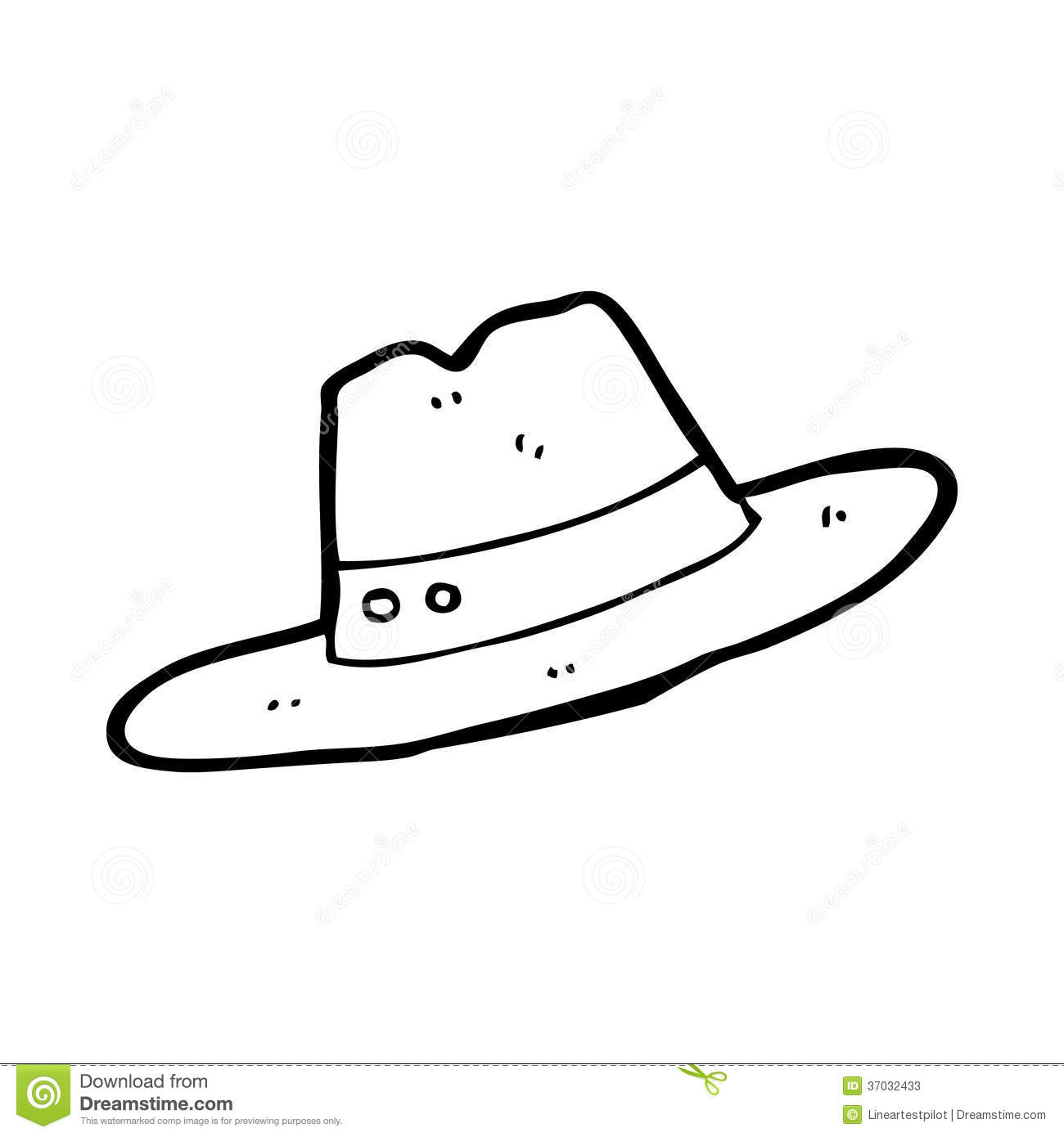 Black And White Hat Part : Cartoon hat stock illustration of cheerful