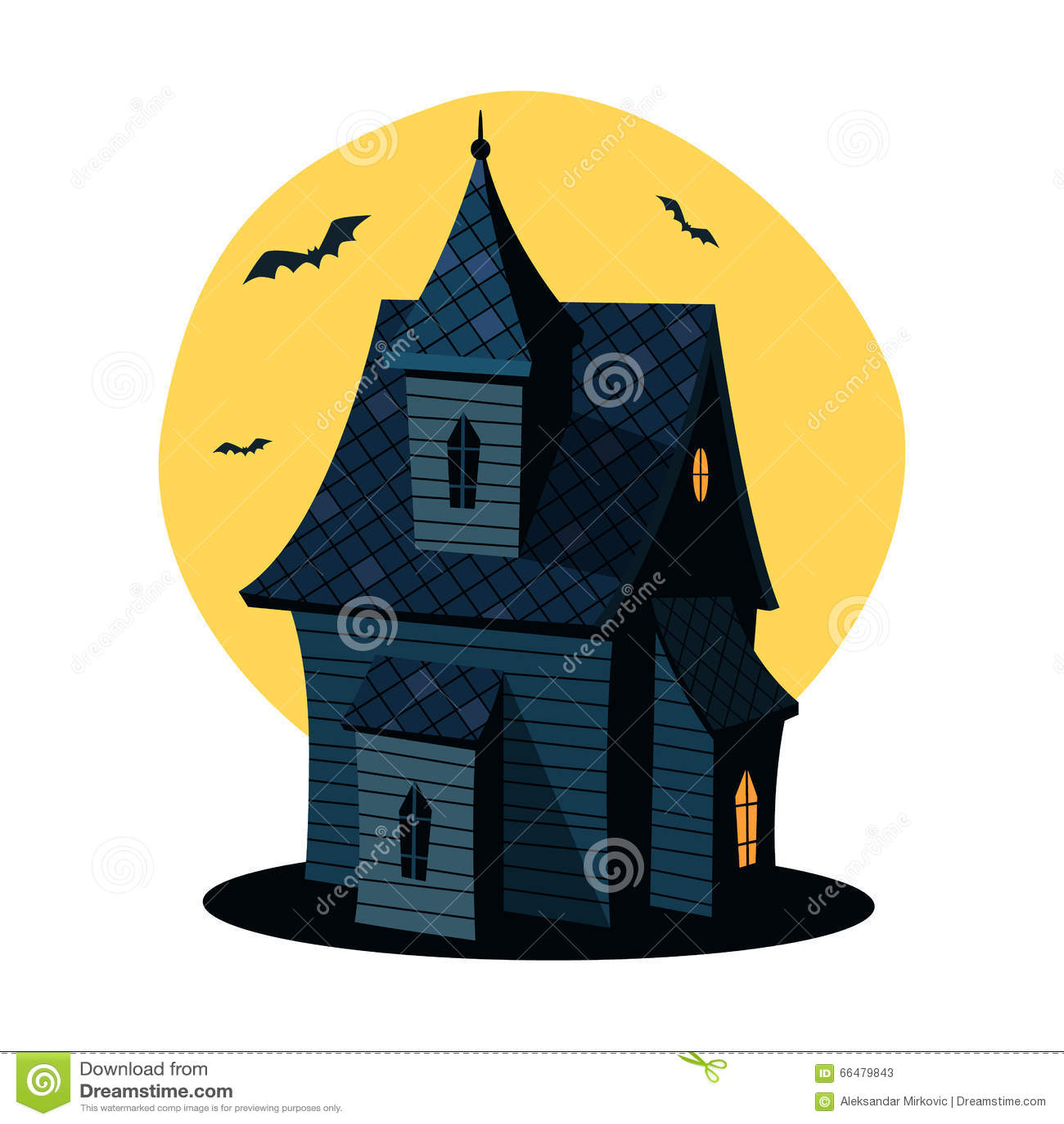 Cartoon haunted house stock vector illustration of - Cartoon haunted house pics ...