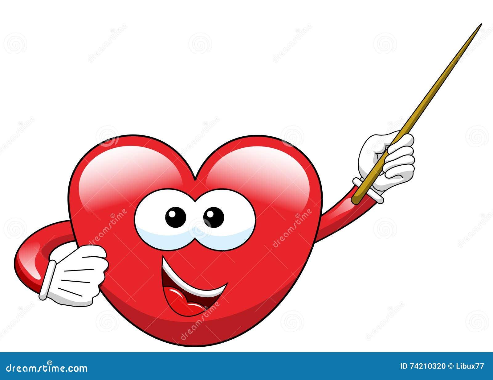 Cartoon Heart Teacher Stock Vector Illustration Of Cartoon 74210320