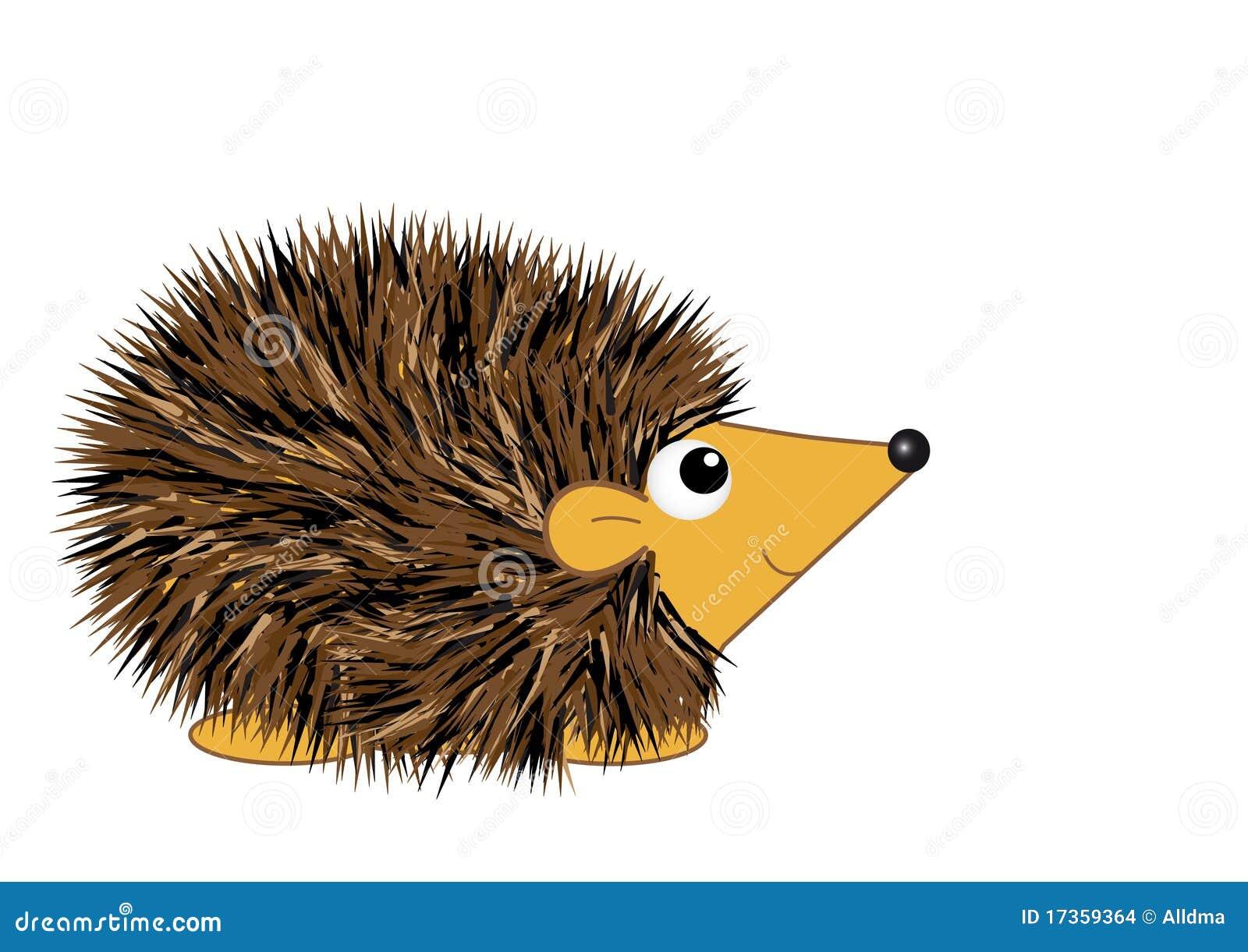 Cartoon hedgehog stock vector illustration of smiling 17359364 - Herisson dessin ...