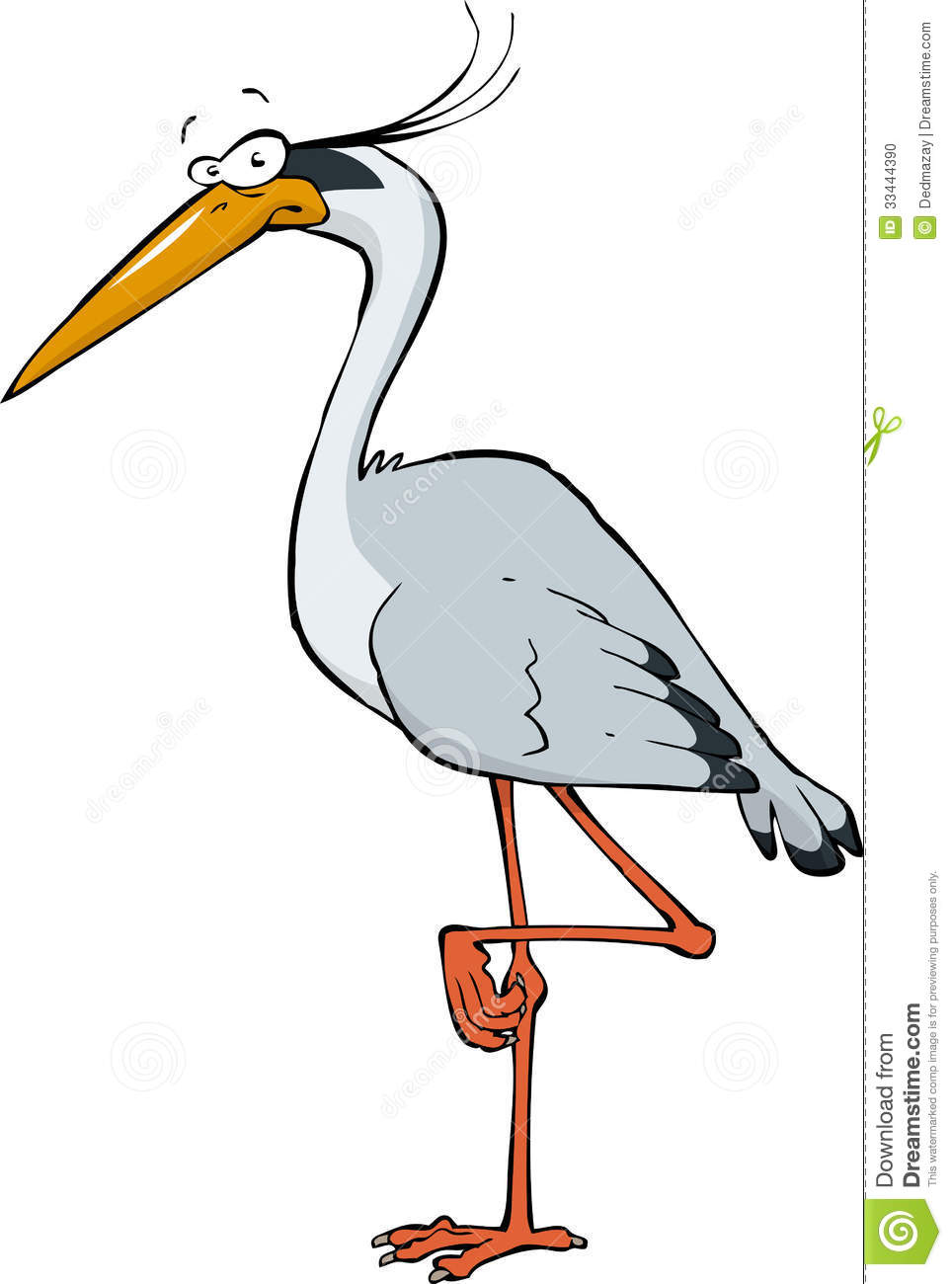 Cartoon Heron Stock Photo - Image: 33444390