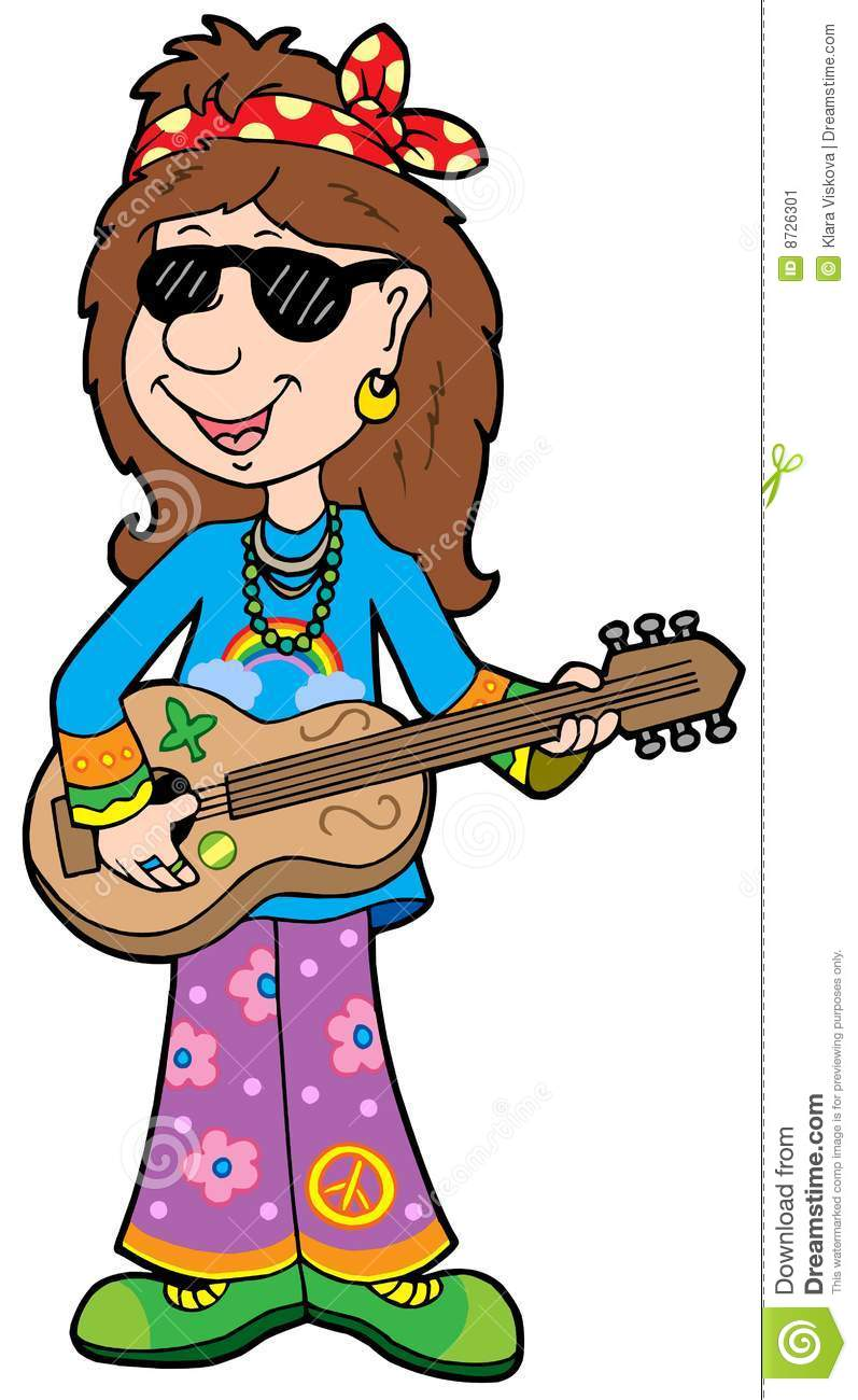 Http Www Dreamstime Com Stock Image Cartoon Hippie Musician Image8726301