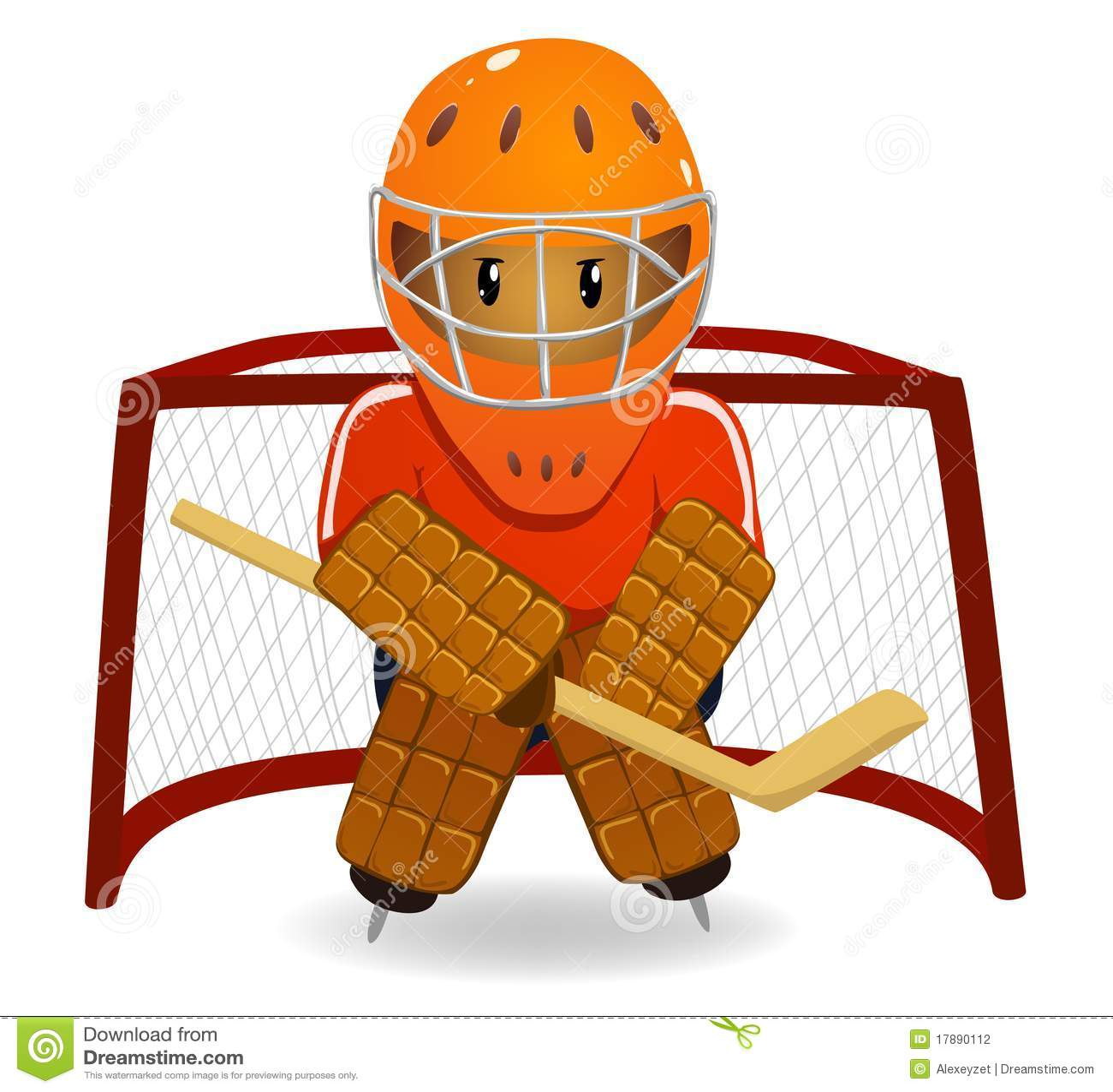 Cartoon Hockey Goalkeeper Stock Vector Illustration Of Glide 17890112