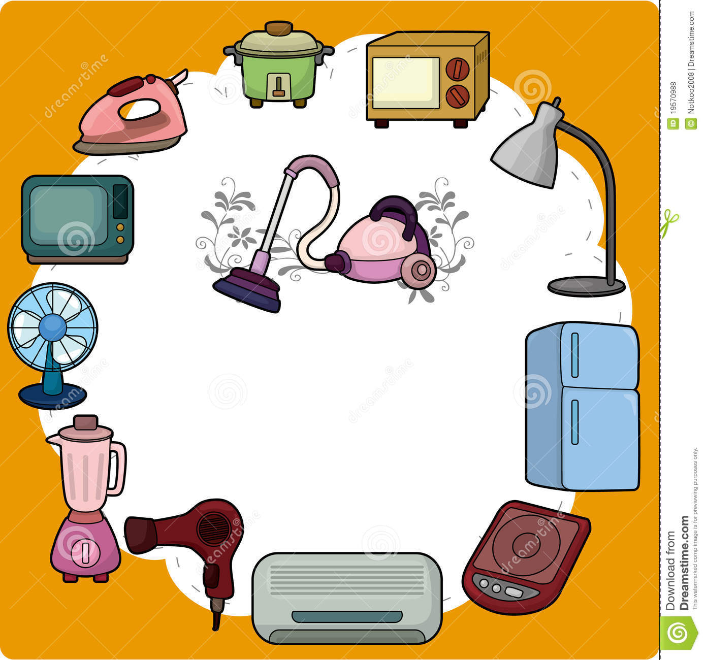 electronic appliances drawing