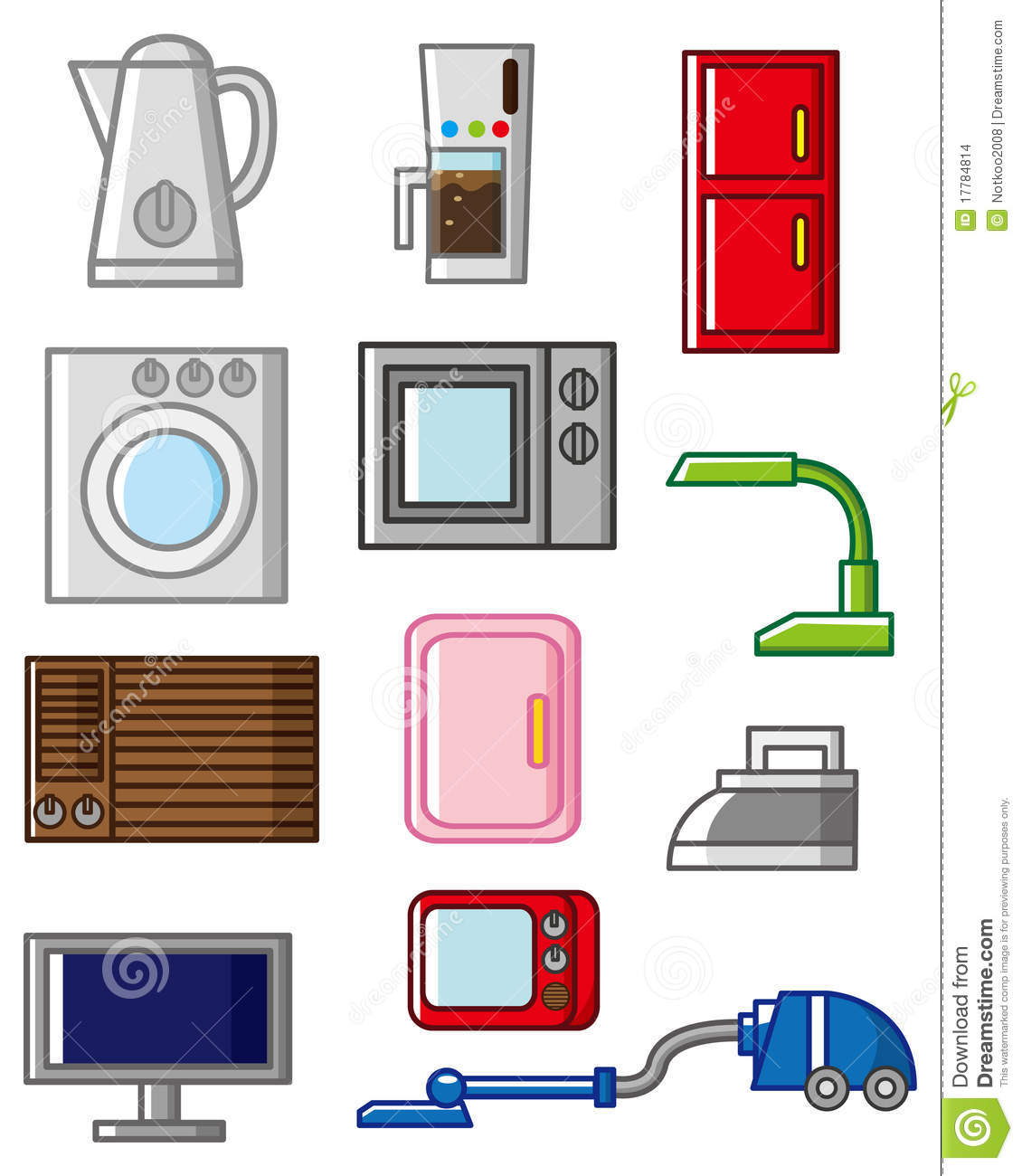 cartoon home appliances icon stock vector illustration of clip dryer 17784814. Black Bedroom Furniture Sets. Home Design Ideas