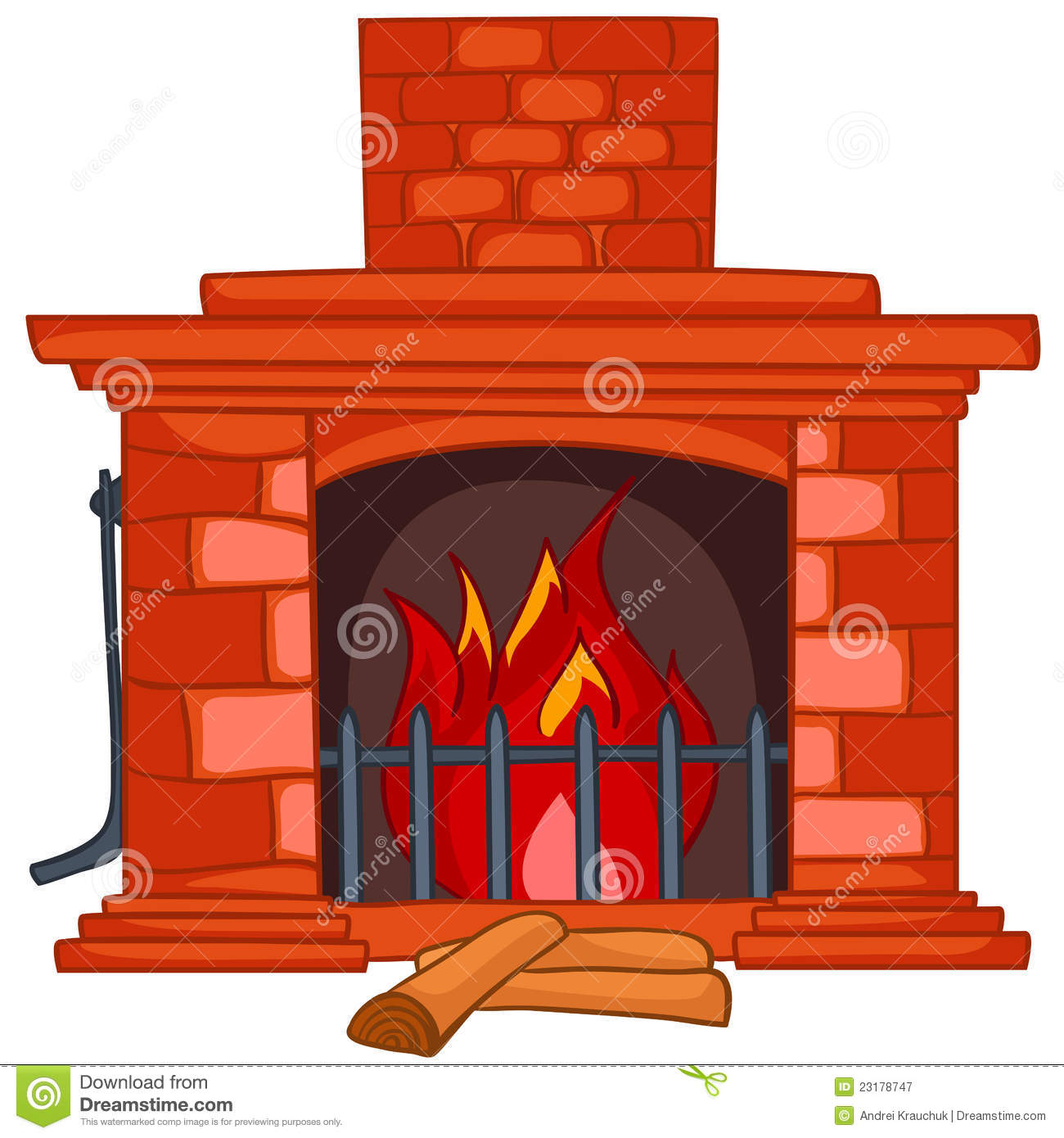 Cartoon Home Fireplace Stock Vector Image Of Drawing