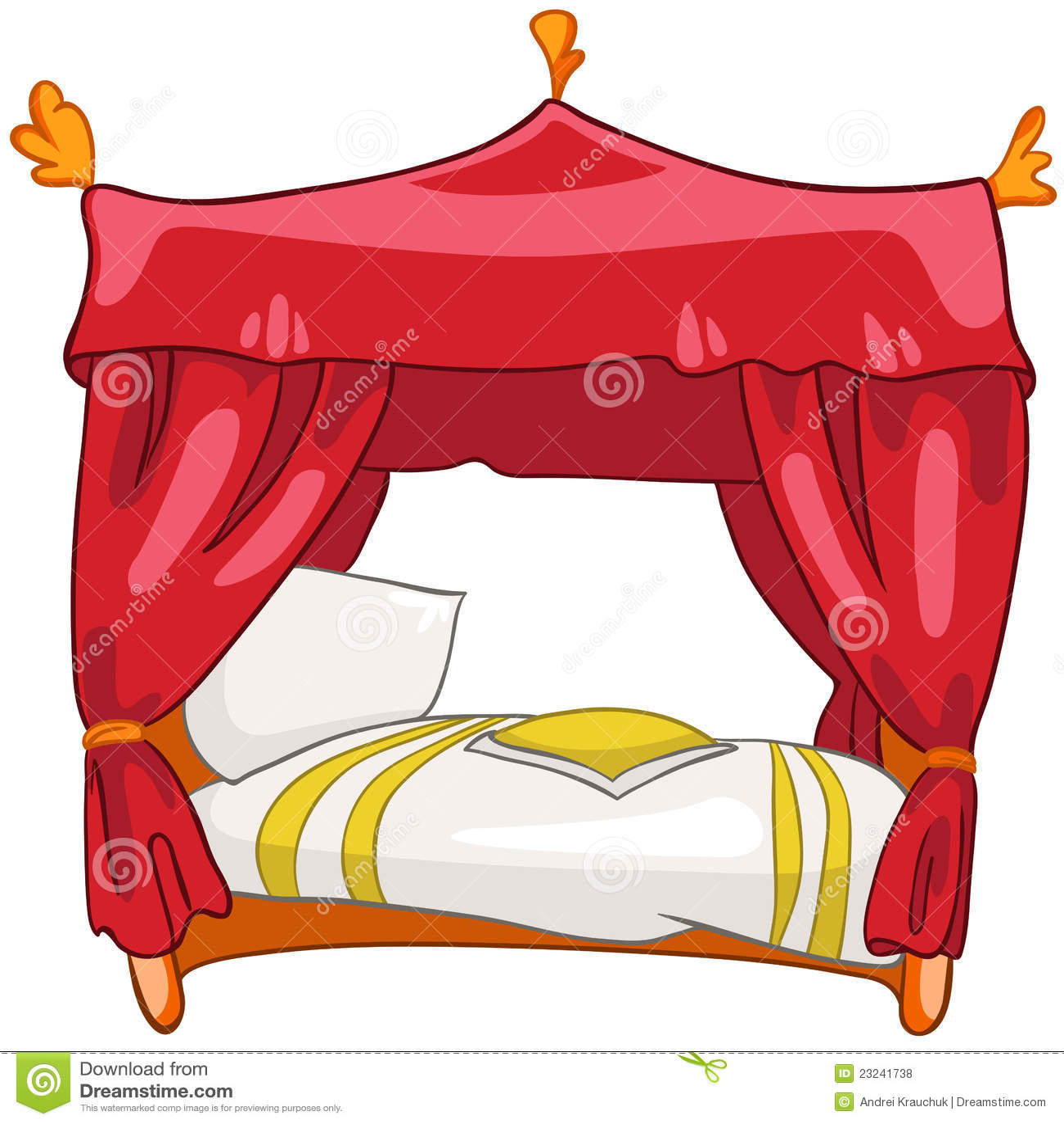 Cartoon Furniture: Cartoon Home Furniture Bed Royalty Free Stock Photos