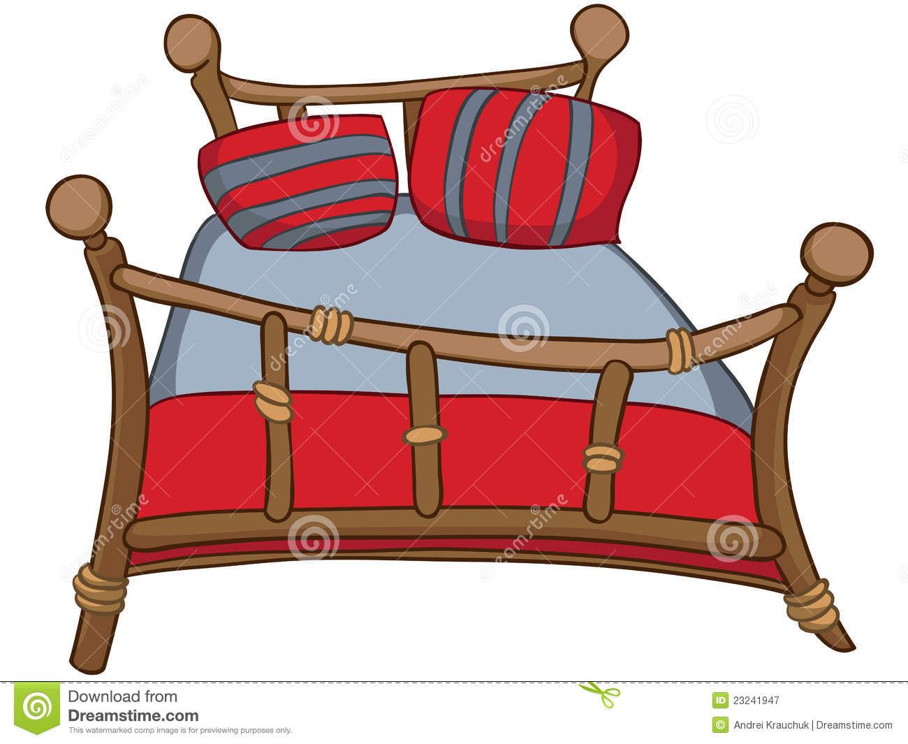 cartoon home furniture bed stock illustration. Black Bedroom Furniture Sets. Home Design Ideas