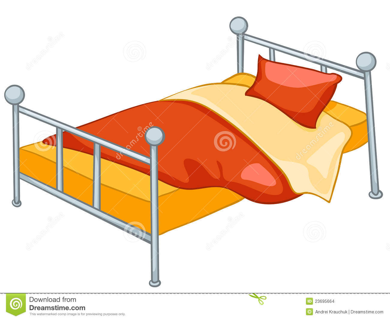 Cartoon Home Furniture Bed. Cartoon Home Furniture Bed Stock Images   Image  23695664