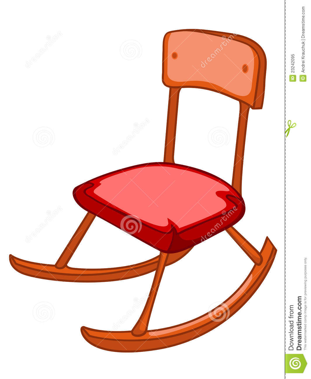 Red Rocking Chair Clipart ~ Cartoon home furniture chair royalty free stock photo