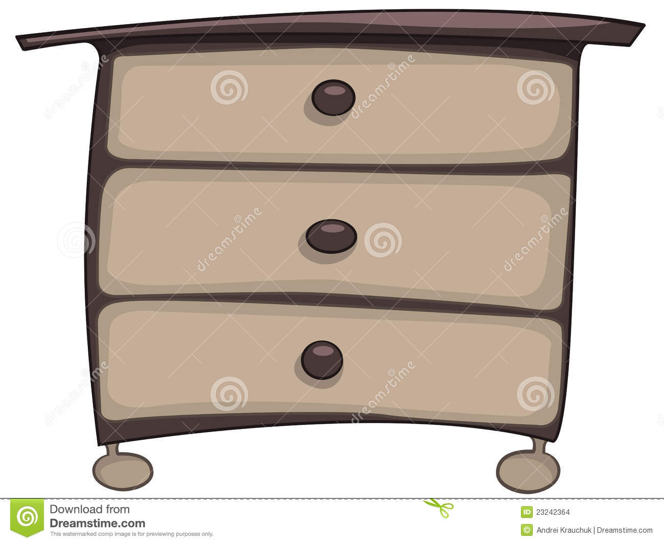 Cartoon Home Furniture Chest Of Drawers Stock Images - Image: 23242364