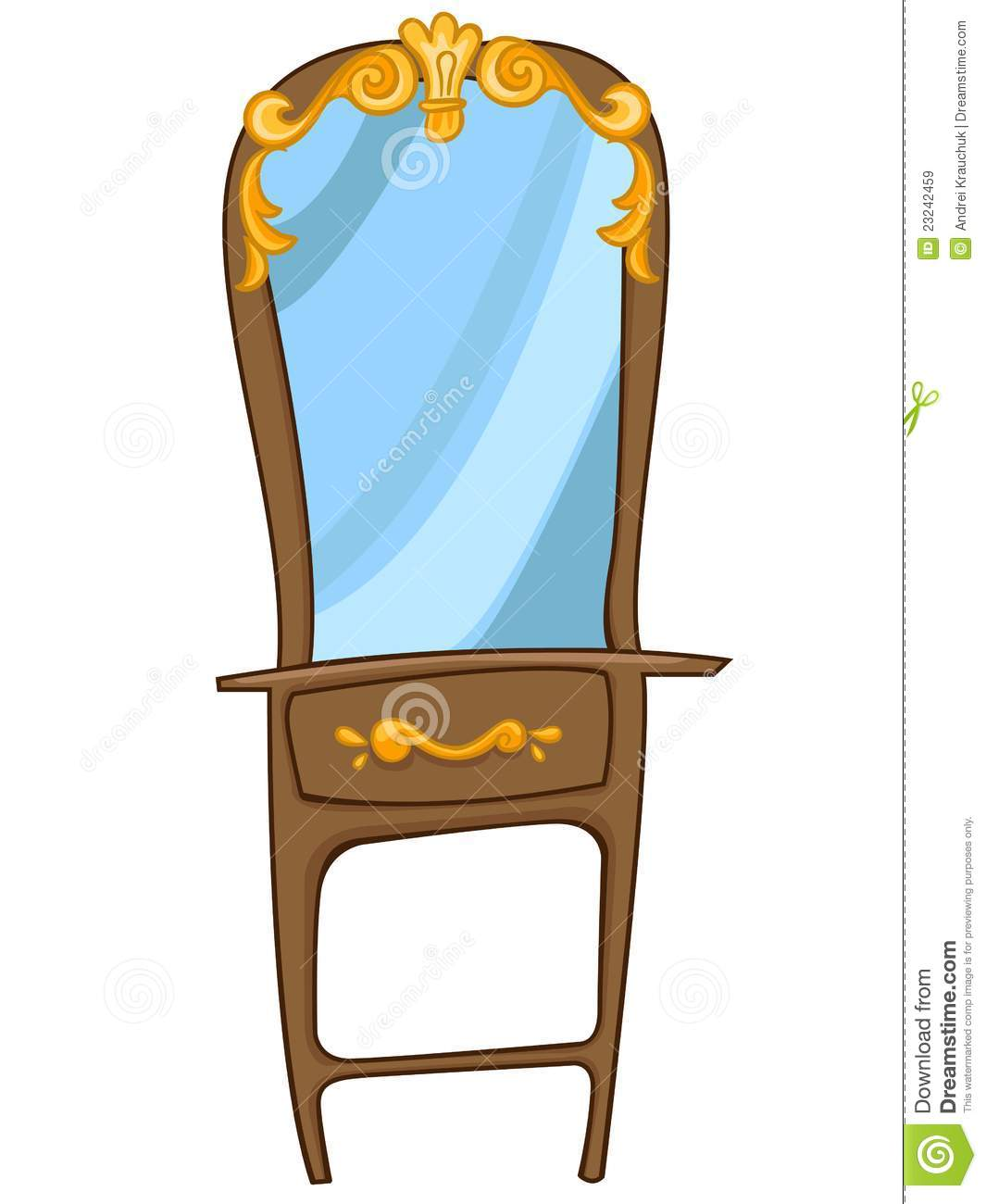 Cartoon Home Furniture Chest Of Drawers Royalty Free Stock